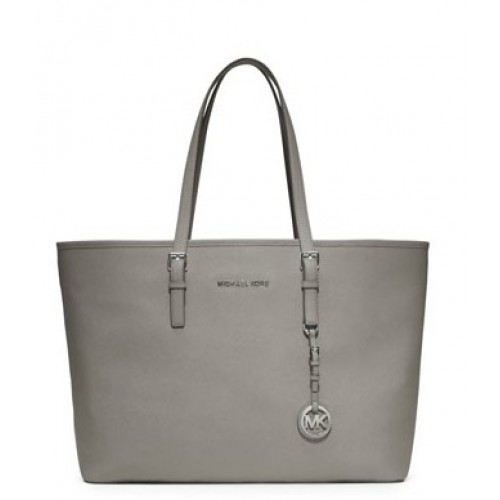 Michael Kors Jet Set Saffiano Travel Tote Gray